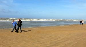 Strand van Egmond aan Zee (Jennie, Dick, Ed en Gert)