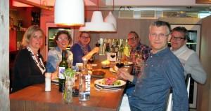 Ingrid, Janet, Mary, Matthieu, Gert en Ed
