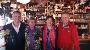 Gert, Zwanet, Janet en Jan