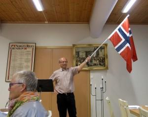 In 1821 werd de noorse vlag in gebruik genomen