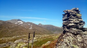 Jolgrøhornet vanaf Ansokhornet (met Jolgrøhornet er tussenin)