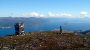 Op de top met uitzicht richting Molde