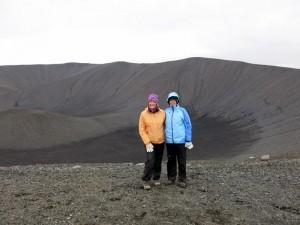 Op de kraterrand van Hverfjell