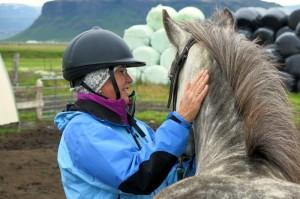 Paardrijden op Vænting (betekent Verwachting)