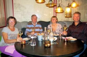 De laatste avond in een restaurant in Reykjavik - geweldig eten en gezellige avond!