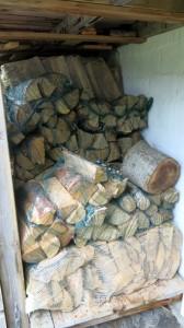 Goed gevulde houtvoorraad