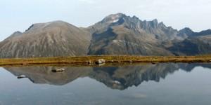 Ellen maakte een foto van Jønshaornet vanaf de andere kant van het dal