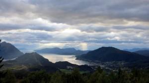 Uitzicht vanaf Lisetsæter