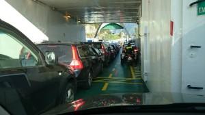 Drukke ferry