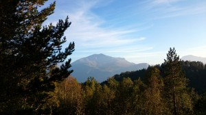 55 sånn ser fjellet ut fra hytta vår