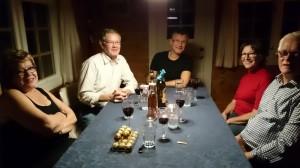 Margit, Ole Mindor, Gert, Ingrid en Thor