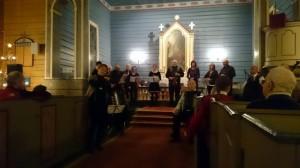 Valldal Spelemannslag in Valldal kerk