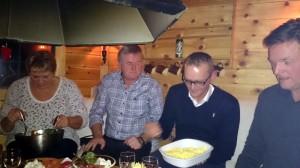 Grete, Gunnar en Knut Helge