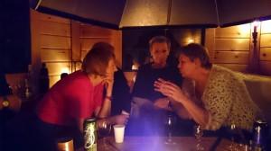 Marit, Ann-Kristin en Grete (verborgen achter Marit zit de andere Marit)