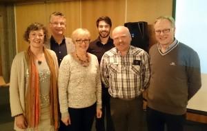 Vlnr: Janet, Gert. Liv Signe, Sondre, Rune en Petter