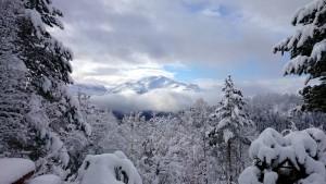Witte donderdag: uitzicht vanaf Jønsbu
