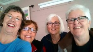 Janet, Åse, Oddfrid en Grethe