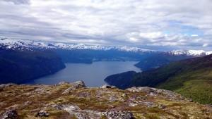 Storfjord en Sunnmørsalpene (Slogen is ook goed te zien)