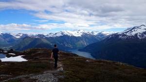 Tafjordfjellet op de achtergrond