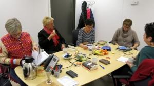 Elin, Marit, Gunnhild, Vigdis en Aase Pernille